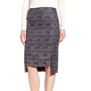 Halogen tweed boucle pencil skirt 2P